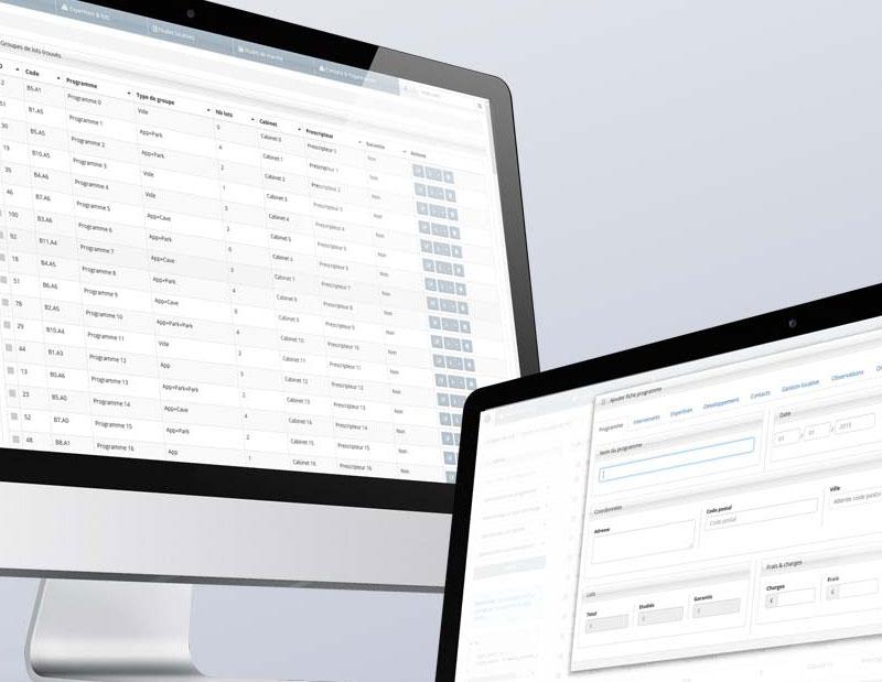 Création et développement d'une application web métier, plateforme de gestion de programmes immobiliers en mode SAAS.