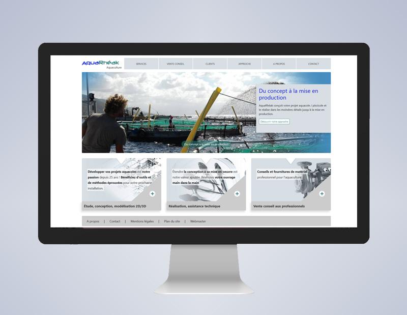 Assistance sur la stratégie et les contenus + Création d'un site corporate et catalogue 100% sur mesure sur la base d'un CMS interne, modifications depuis le site directement.