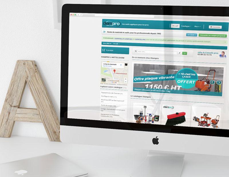 Création site e-commerce B2B sur mesure, création API mise à jour automatique avec le logiciel de gestion non standard du client, CMS interne, administration sur mesure par types de contenus.