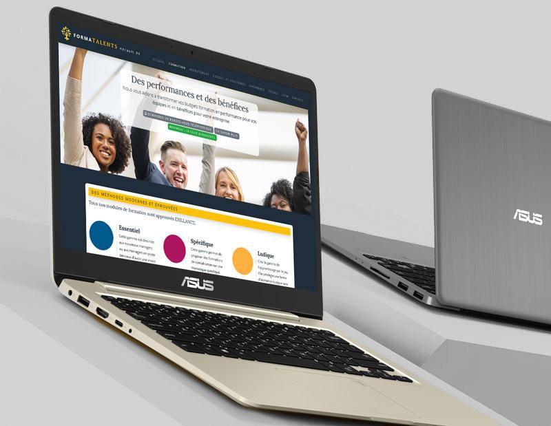 Assistance sur la stratégie et les contenus + Création d'un site corporate sur mesure en moins d'un mois.