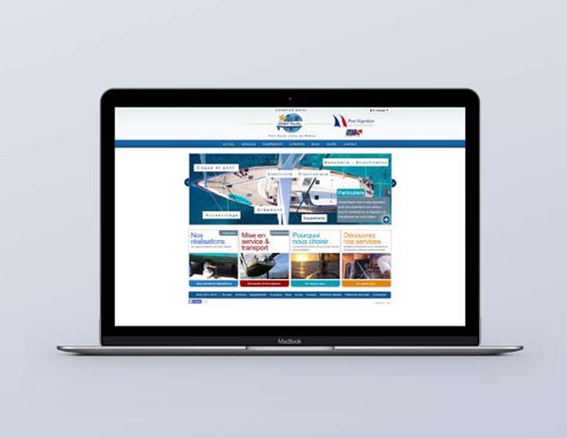 Création et développement d'un site vitrine/corporate, 2 langues, CMS interne.