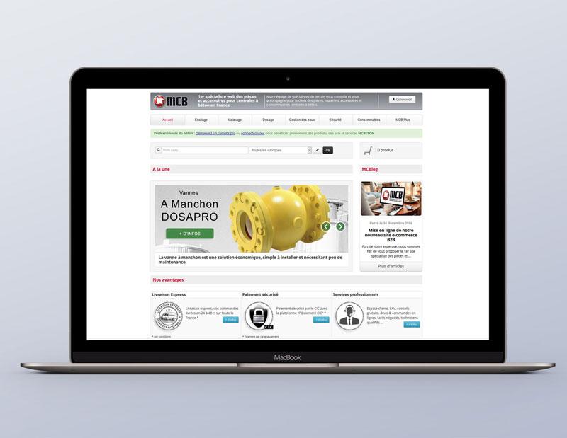 site e-commerce B2B sur mesure, CMS interne, administration sur mesure par types de contenus