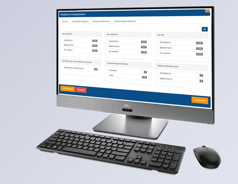 Création et développement d'une application web 100% sur mesure, d'import des données produits centralisées via XML, connections API, transferts de documents. Plusieurs dizaines de millions de comparaisons et outil récapitulatif métier des différences entre 2 imports.