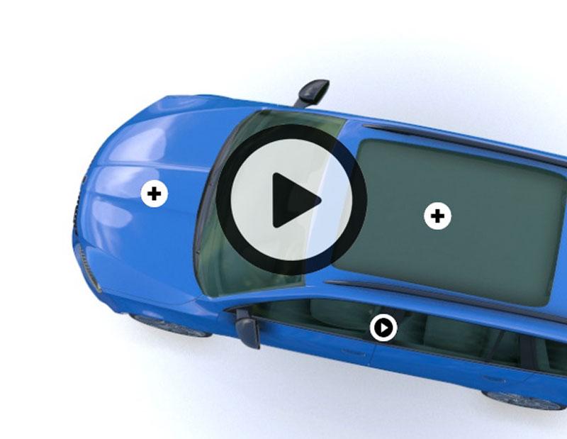 Animation 3D transformée en 360° X 6 angles au format web interactif. Posters et animation vidéo tirée à partir de l'objet 3D